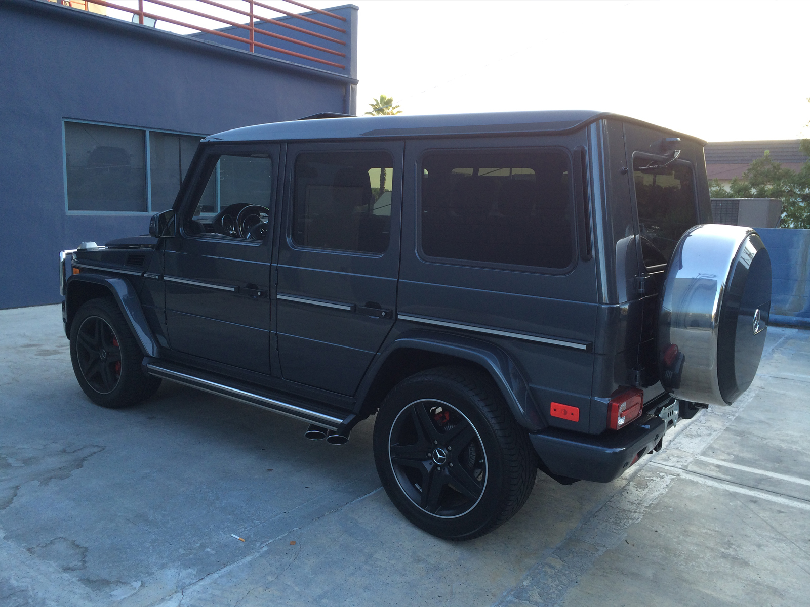 purchase used 2014 mercedes g63 amg matte black designo package in studio city california. Black Bedroom Furniture Sets. Home Design Ideas